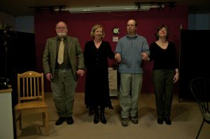 From left to right: Mark Smith (The Doctor), Miranda Holmes (Angle of Death), Dean Clark (John) and Donna Deacon (Cassie)