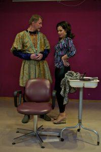 Claudius (Paul O'Sullivan) admits it's good to be king
