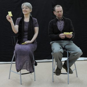 Margaret Litt and Nick Squire in Post Its (Notes on a Marriage)