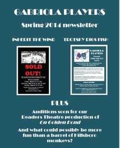 Spring 2014 newsletter cover