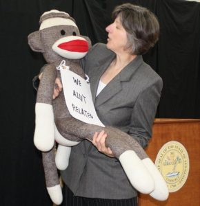 "Donna Deacon's ""E.K. Hornbeck"" is not the only one up to some monkey business in Inherit the Wind"