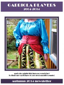 Autumn 2014 Newsletter cover