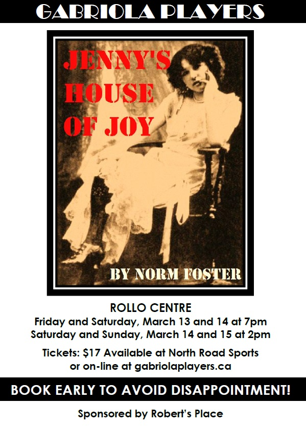 Tickets now available for JENNY'S HOUSE OF JOY