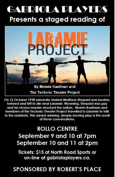Laramie Project 9-11 September